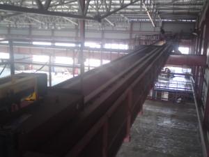 Процесс испытаний мостового крана